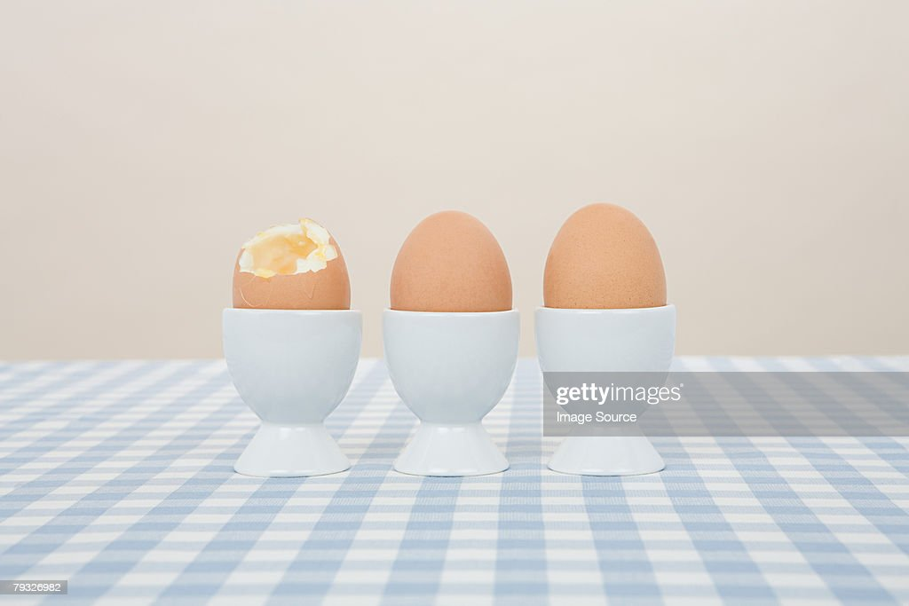 Eggs in a row : Stock Photo