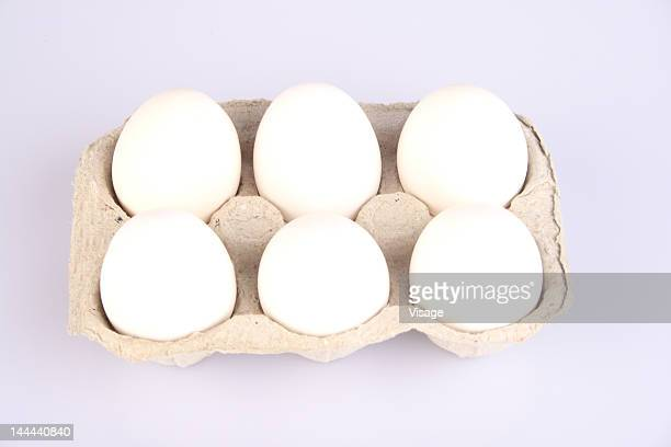 Eggs in an egg tray