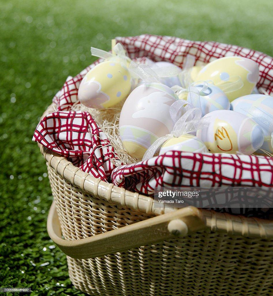 Eggs in basket : Stock Photo