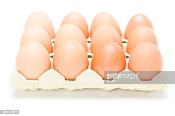 eggs in egg carton - dozen stock pictures, royalty-free photos & images