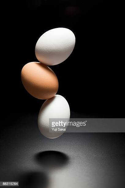 3 eggs in the air