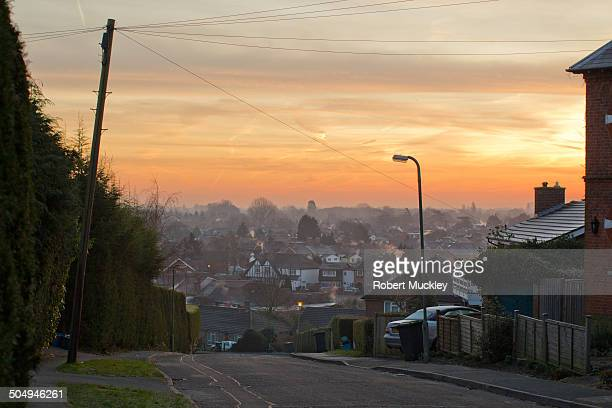 egham dawn - surrey england stock pictures, royalty-free photos & images