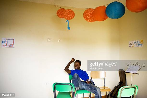 Egide Nizeyimana participate in afterschool activities inside the Agahozo Shalom Youth Village on March 12 2009 in Rwamagana Rwanda The ASYV provides...