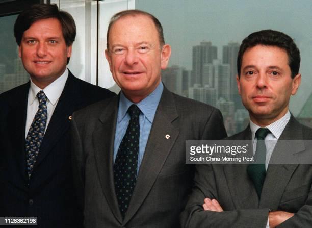 Egidio Bruno Head of Credito Italiano with him are chief manager Dante Pasqualini and former chief manager Maurizio Fazzari 28 Nov 95