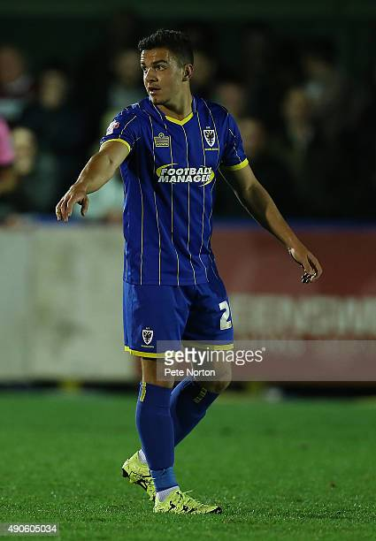 Egil Kaja of AFC Wimbledon in action during the Sky Bet League Two match between AFC Wimbledon and Northampton Town at The Cherry Red Records Stadium...