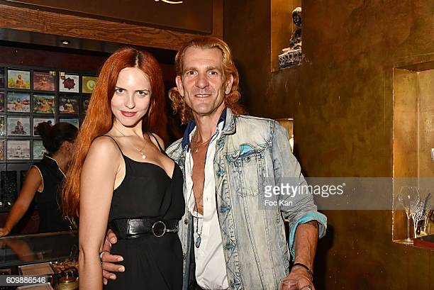 Egla Harxhi and Ale de Basseville attend the Buddha Bar 20th Anniversary Party at Buddha Bar Club on September 22 2016 in Paris France