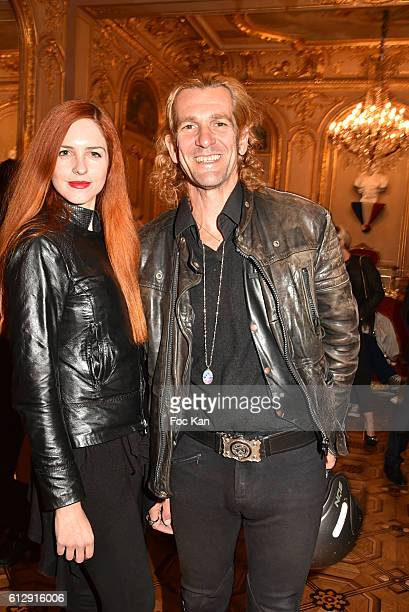 Egla Harxhi and Ale de Basseville attend the Massimo Gargia's Photos of Celebrities Exhibition at Mairie du 8eme Paris Fashion Week Womenswear...