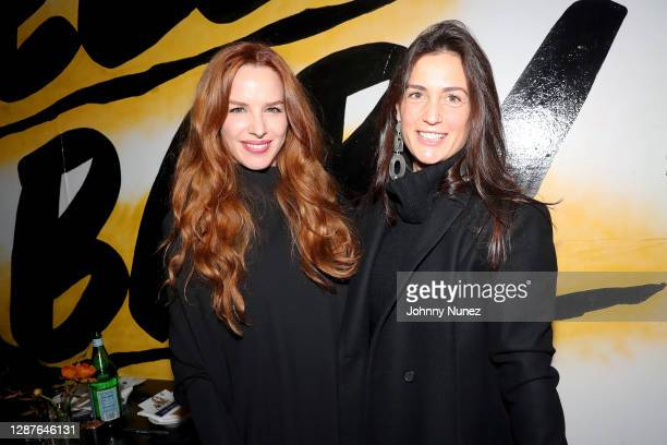 Eglantina Zingg and Cristiana Viganò attend Egla's Friendsgiving Day at Baby Brasa on November 24, 2020 in New York City.