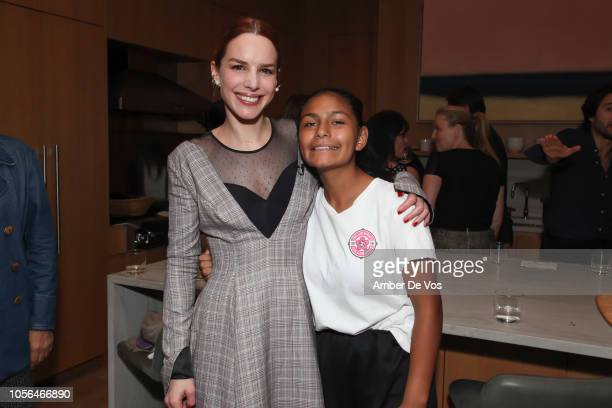 Eglantina Zingg and Goleadoras Captain Sara Villacres attend GOLEADORAS Celebrates United Nations Global Goals World Cup Winners at Private Residence...