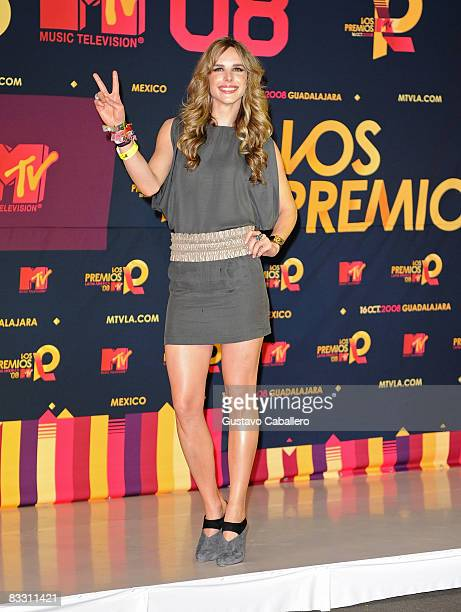 Eglantina Zingg Zinqq poses in the press room during the 7th Annual 'Los Premios MTV Latin America 2008' Awards held at the Auditorio Telmex on...