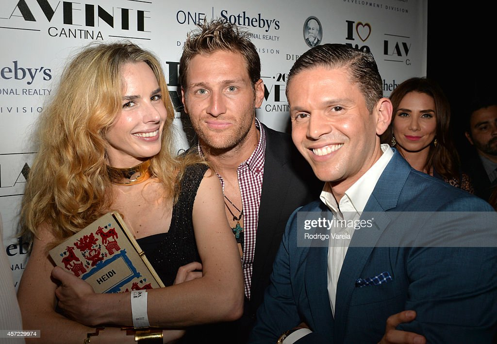Eglantina Zinng, Juan Pablo Galavis and Rodner Figueroa attend I Love Venezuelan Foundation Event Cantina La No. 20 at The Icon Brickell on October 14, 2014 in Miami, Florida.