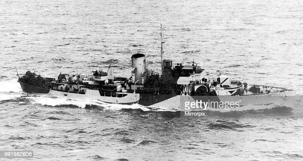 Eglantine a Norwegian Flower Class Corvette seen here on convoy duty in the Western Approaches. 11th January 1943