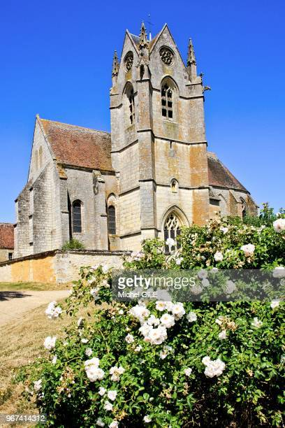 Eglise de l'abbaye et prieuré' Saint-Gauburge construit au XI, XIII et XVème siècle, classé monument historique, aujourd'hui écomusée du Perche à...
