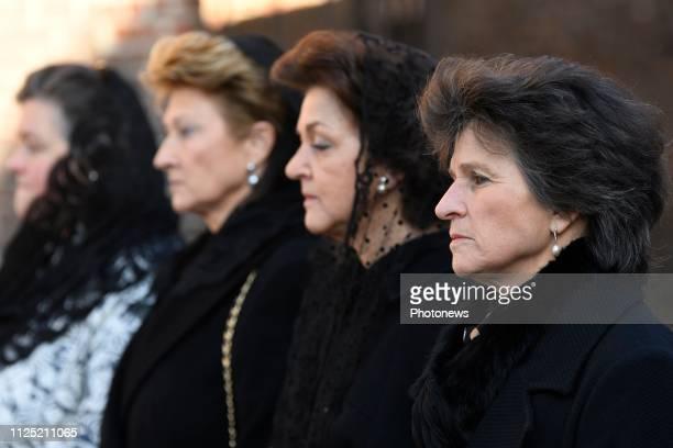 funérailles de la princesse Alix de Luxembourg la mère du Prince Michel de Ligne Kerk van St Peter Beloeil begrafenis van Prinses Alix van Luxemburg...