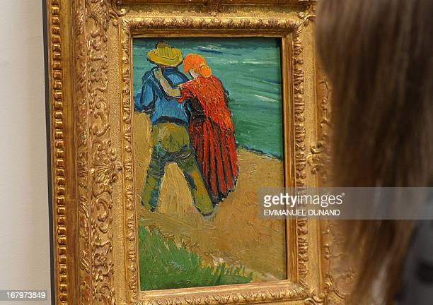 'Eglogue en Provence' by Vincent van Gogh is on display during a preview of Sotheby's Impressionist and Modern Art sales in New York May 3 2013...