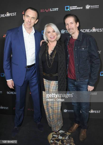 Ego Mikitas Joann Kepler and Allen Kepler arrive for the Screamfest LA Opening Night Screening Of 'The Amityville Murders' at TCL Chinese 6 Theatres...