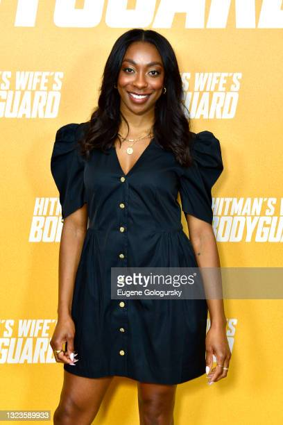 """Ego Nwodim attends the """"Hitman's Wife's Bodyguard"""" special screening at Crosby Street Hotel on June 14, 2021 in New York City."""