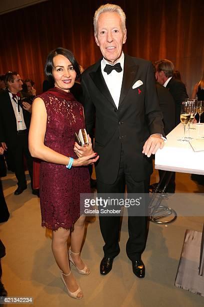 Egon F Freiheit and Amira during the 23rd Opera Gala at Deutsche Oper Berlin on November 5 2016 in Berlin Germany