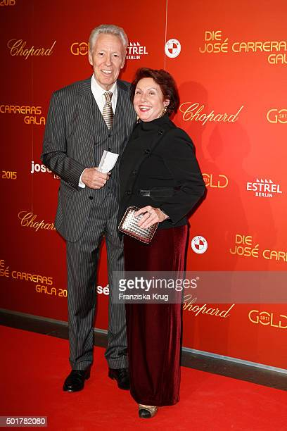 Egon F Freiheit and Georgia Tornow attend the 21th Annual Jose Carreras Gala at Hotel Estrel on December 17 2015 in Berlin Germany