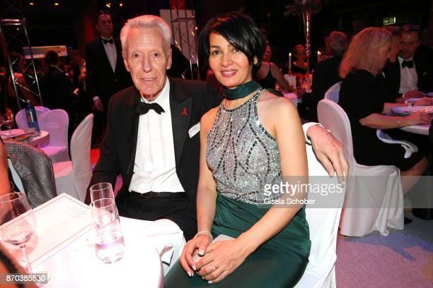 Egon F Freiheit and his girlfriend Amira during the aftershow party of the 24th Opera Gala benefit to Deutsche AidsStiftung at Deutsche Oper Berlin...
