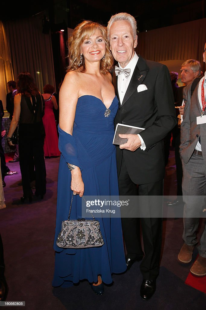 Egon F. Freiheit and his wife Maren Gilzer attend 'Goldene Kamera 2013' at Axel Springer Haus on February 2, 2013 in Berlin, Germany.