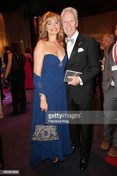 Egon F Freiheit and his wife Maren Gilzer attend 'Goldene Kamera 2013' at Axel Springer Haus on February 2 2013 in Berlin Germany