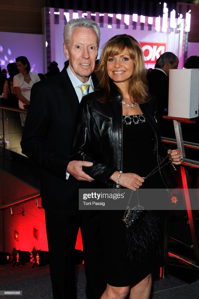 Egon F. Freiheit and wife Maren Gilzer attend the 'OK! Style Award 2010' at the British Embassy on May 6, 2010 in Berlin, Germany.