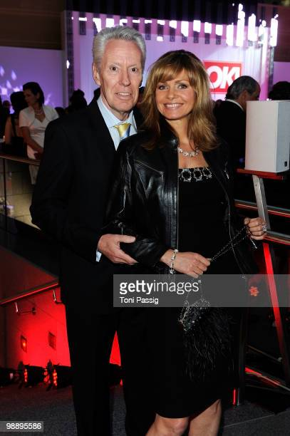 Egon F Freiheit and wife Maren Gilzer attend the 'OK Style Award 2010' at the British Embassy on May 6 2010 in Berlin Germany