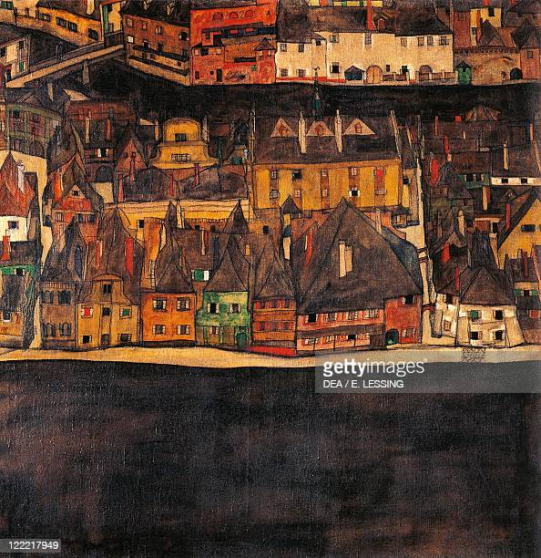 Egon Schiele The Small City II or The Small City III 191213 oil on canvas5x905 cm
