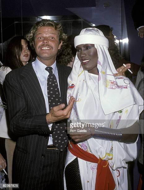 Egon Von Furstenberg and Grace Jones