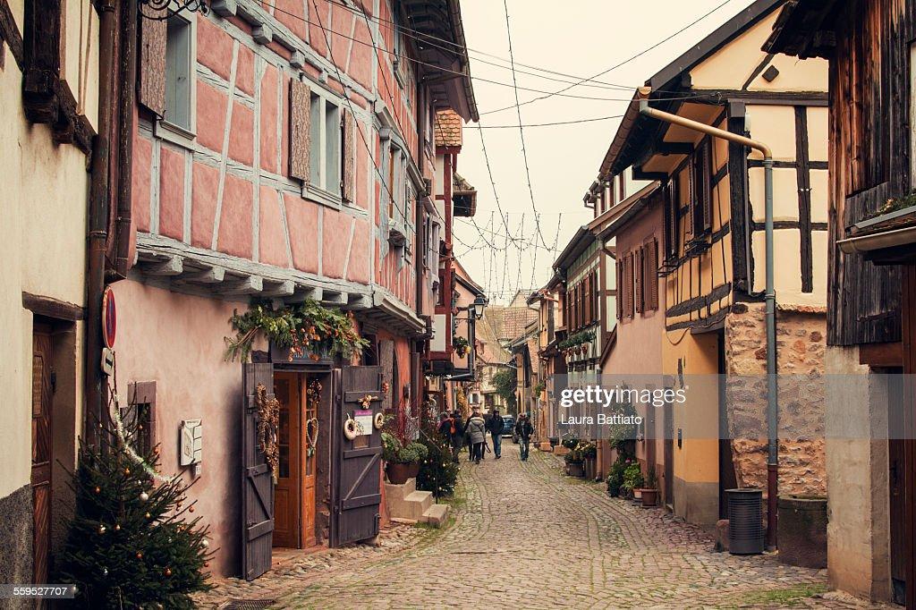 Eguisheim Christmas season, Alsace, Pays du Nöel : Stock Photo