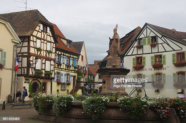 Eguisheim Main Square- Alsace- France