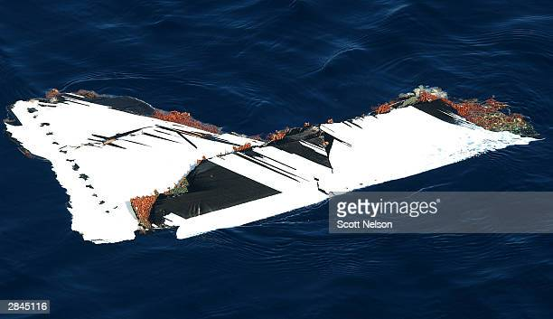 Egy A piece of aircraft wreck debris is seen floating January 5 2004 in the Red Sea near the Egyptian tourist resort of Sharm elSheikh Egypt An...