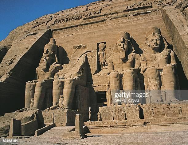 Egypt Abu Simbel great Temple Nubian Monuments colossal sandstone figures of Ramses II