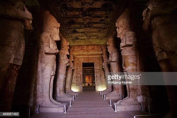 Egypt Abu Simbel Great Temple Of Abu Simbel Pronaos With Statues Of Ramses Interior