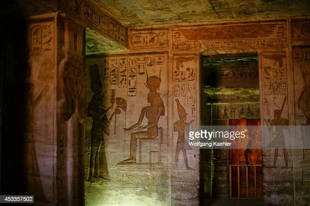 Egypt Abu Simbel Small Temple Of Abu Simbel Interior Pronaos