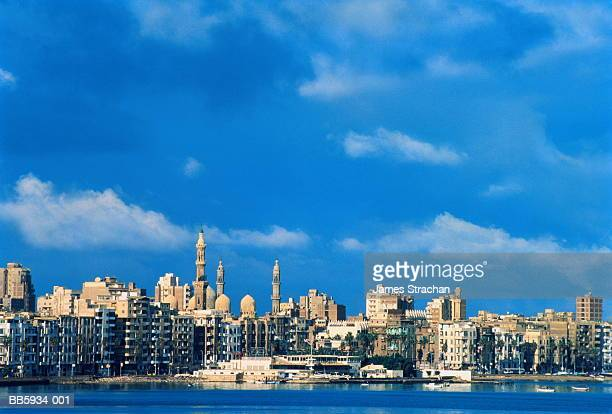 Egypt, Alexandria, Eastern Harbour, view over water to town