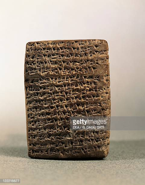Egypt Amarna Tablet with cuneiform characters quoting the name of the Palestinian site of Lachish