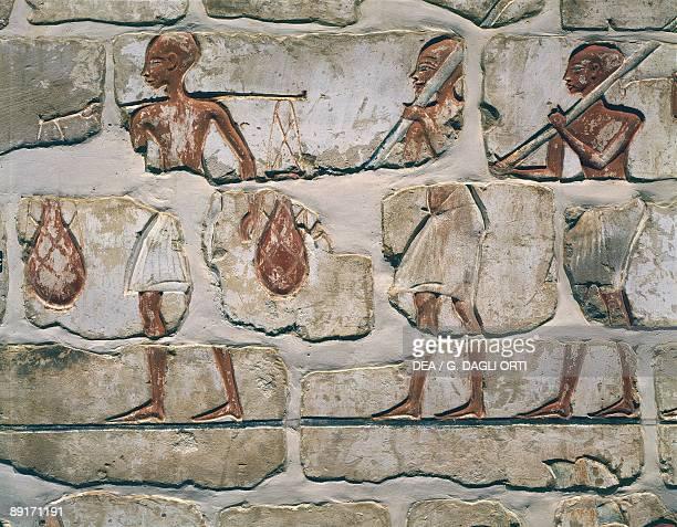 Egypt Ancient Thebes Karnak Talatat wall detail