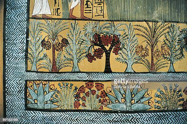 Egypt Ancient Thebes Necropolis Private tomb of Rekhmire New Kingdom 18th Dynasty South wall paintings of foundry operations