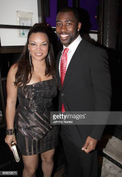 Egypt and Darrelle Revis attend the Kerry Rhodes Foundation black tie dinner at STK on November 2, 2009 in New York City.