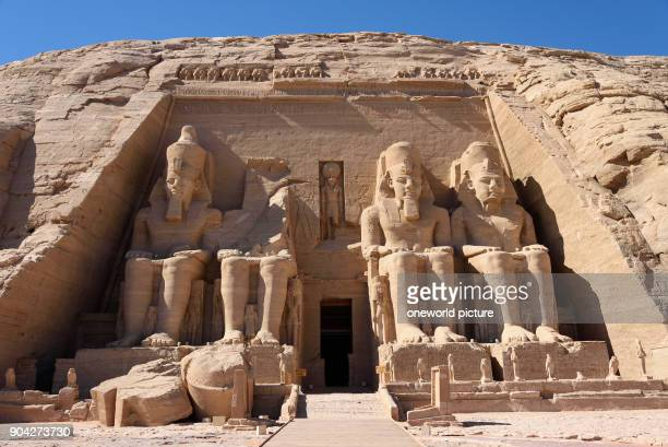 Egypt Aswan Gouvernement Abu Simbel The temple is located on the border to Sudan in the far south of Egypt Built by Ramses II It was dissected and...