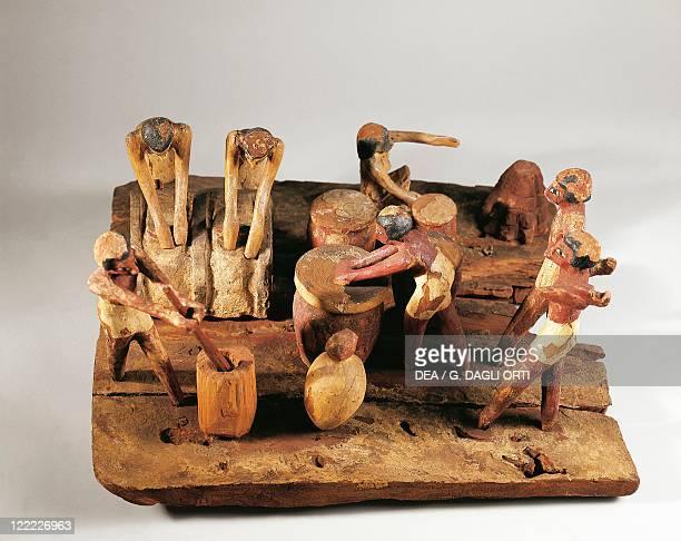 Egypt Asyut Bread preparation wooden model