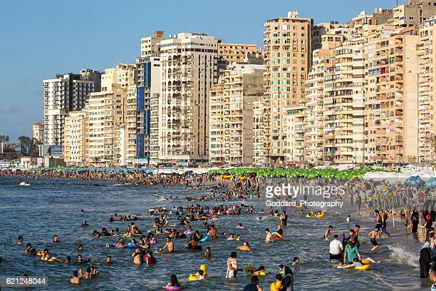 Egypt: Beach at Alexandria