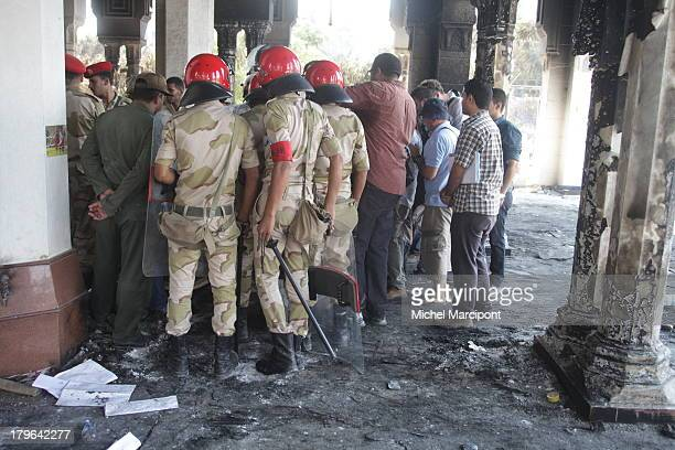 CONTENT] Egypt Cairo 15/8/2013 Rabaa El Adaweya same day of the funeral at Al Iman Mosque on Makram Ebeid Street in Cairo's Nasr City district near...