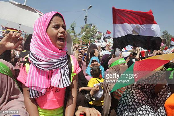 Egypt - Cairo - 9/8/2013 The two main Brotherhood sit-ins continue to block the Rabaa Al-Adawiya cross point in Nasr City and Al-Nahda Square in Giza...