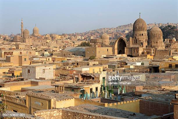 egypt, cairo, city of the dead, elevated view - cairo stock pictures, royalty-free photos & images