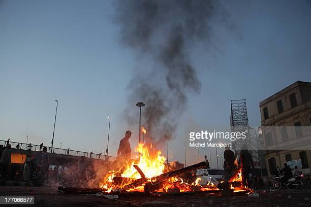 Egypt - Cairo - Friday 19/April/2013 clashes at Abdel Meniem Riad Square between Brotherhood and supporters in Tahrir Square
