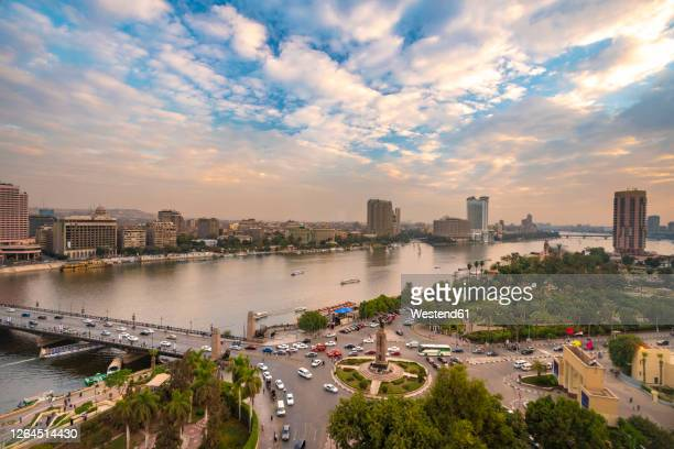 egypt, cairo, nile, tahrir square and garden city - egypt stock pictures, royalty-free photos & images