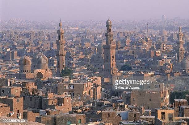 egypt, cairo, old city, elevated view - cairo stock pictures, royalty-free photos & images
